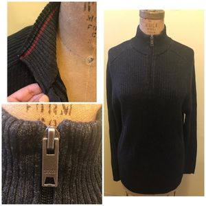 DKNY JEANS ZIP FRONT SWEATER